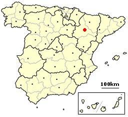 Ficheiro:Zaragoza, Spain location.png