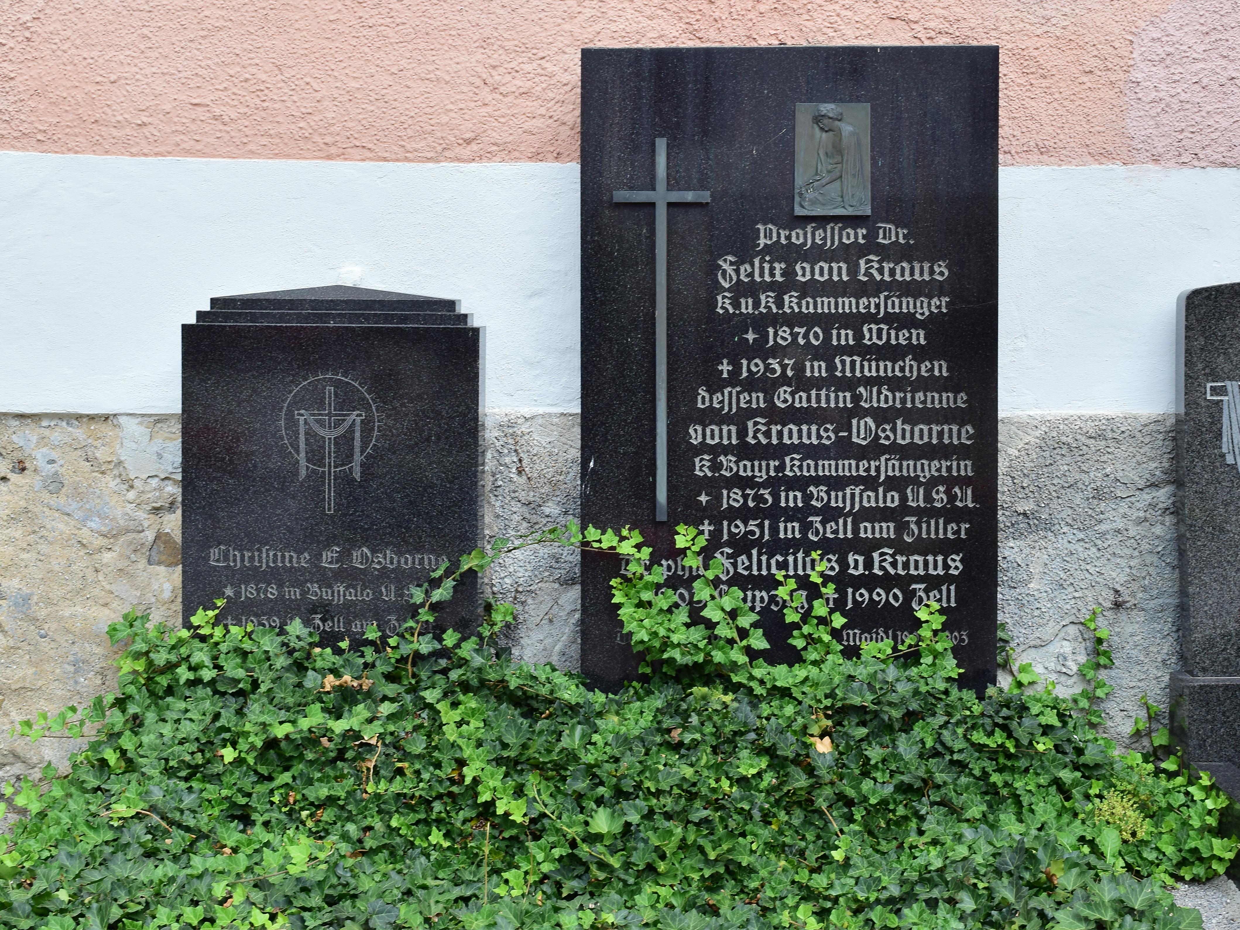 Osborne And München file zell am ziller friedhof grab adrienne osborne und felix