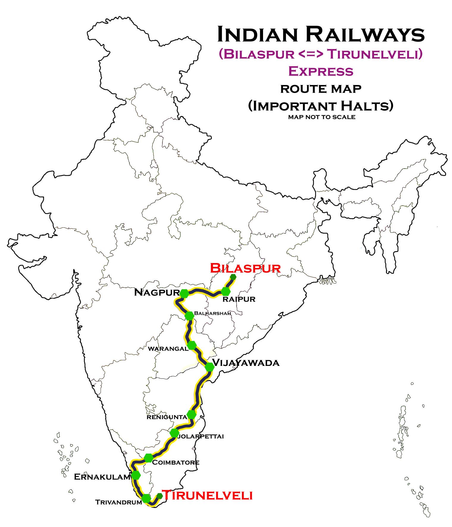 Tirunelveli−Bilaspur Express - Wikipedia