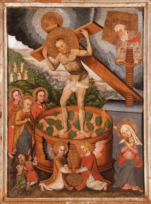 Христос у точилі. Кінець 17 ст.jpg