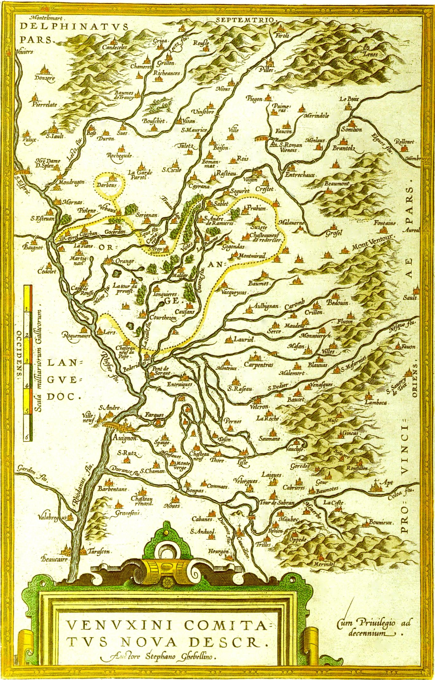Chronologie historique de la provence du comtat venaissin 1274 1791 et de l 39 abbaye saint - Carte sur table cavaillon ...