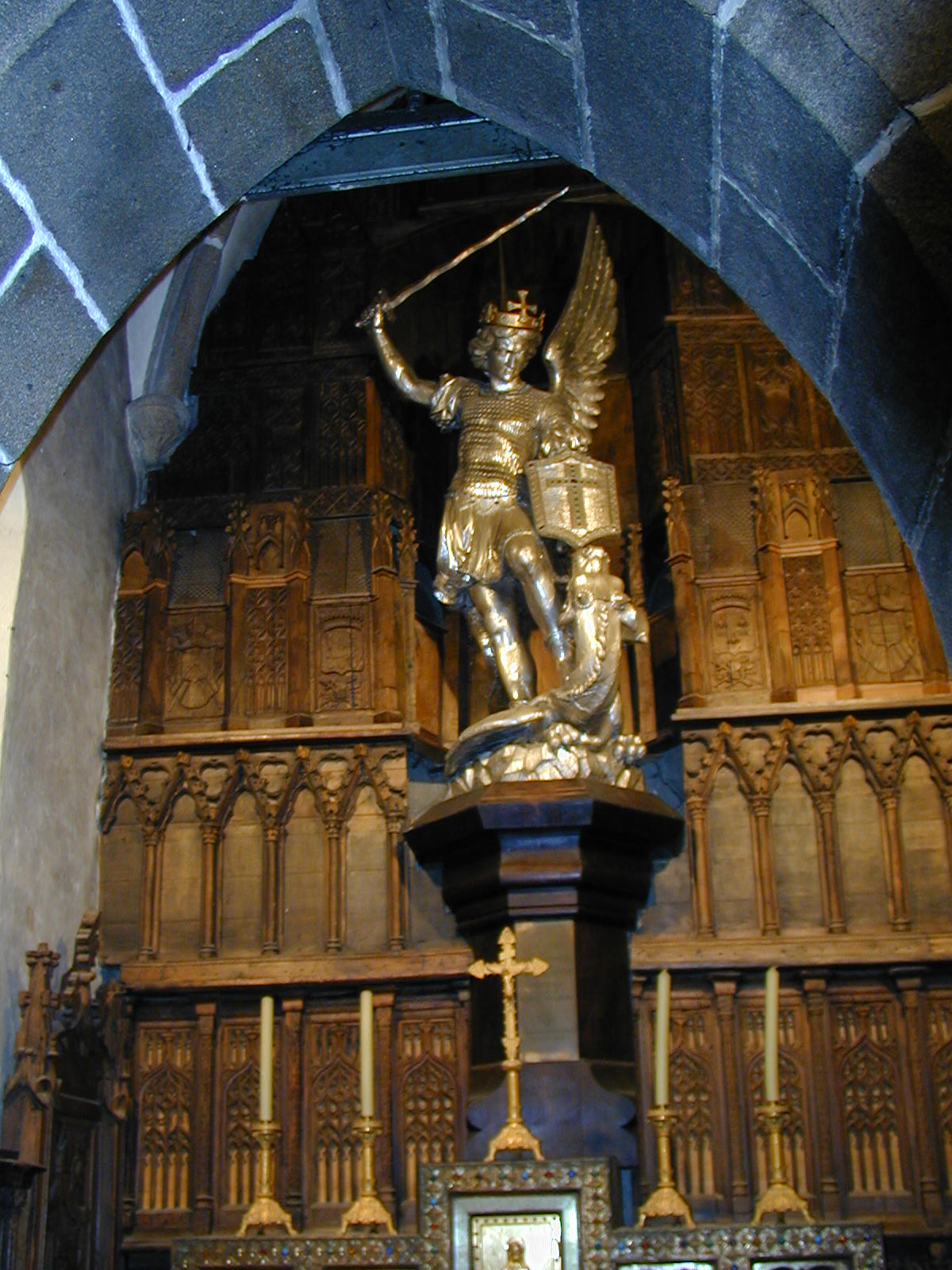 File:200506 - Mont Saint-Michel 40 - Statue Saint-Michel.JPG ...