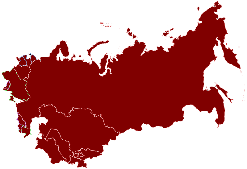Former Soviet Union Countries (Map) Map Quiz - By phosphorus51