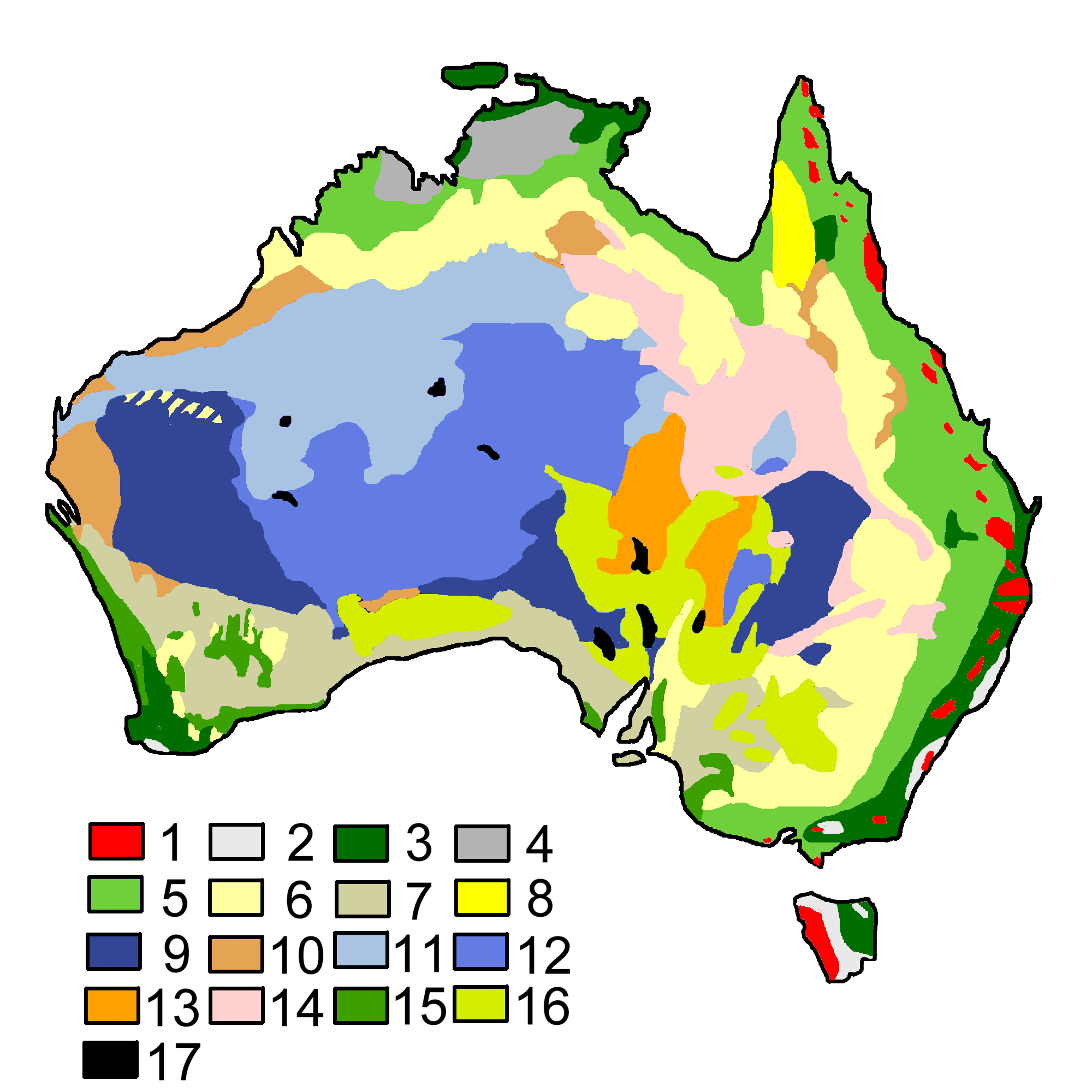 Australia Map Vegetation.File Australian Vegetation Png Wikimedia Commons