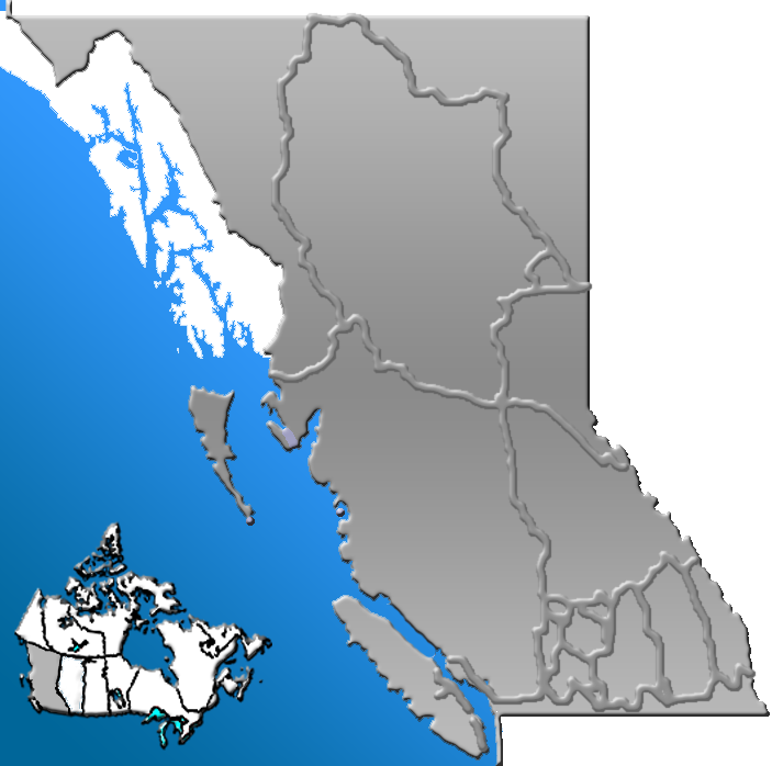 Physical Map Of British Columbia. British Columbia Map(British