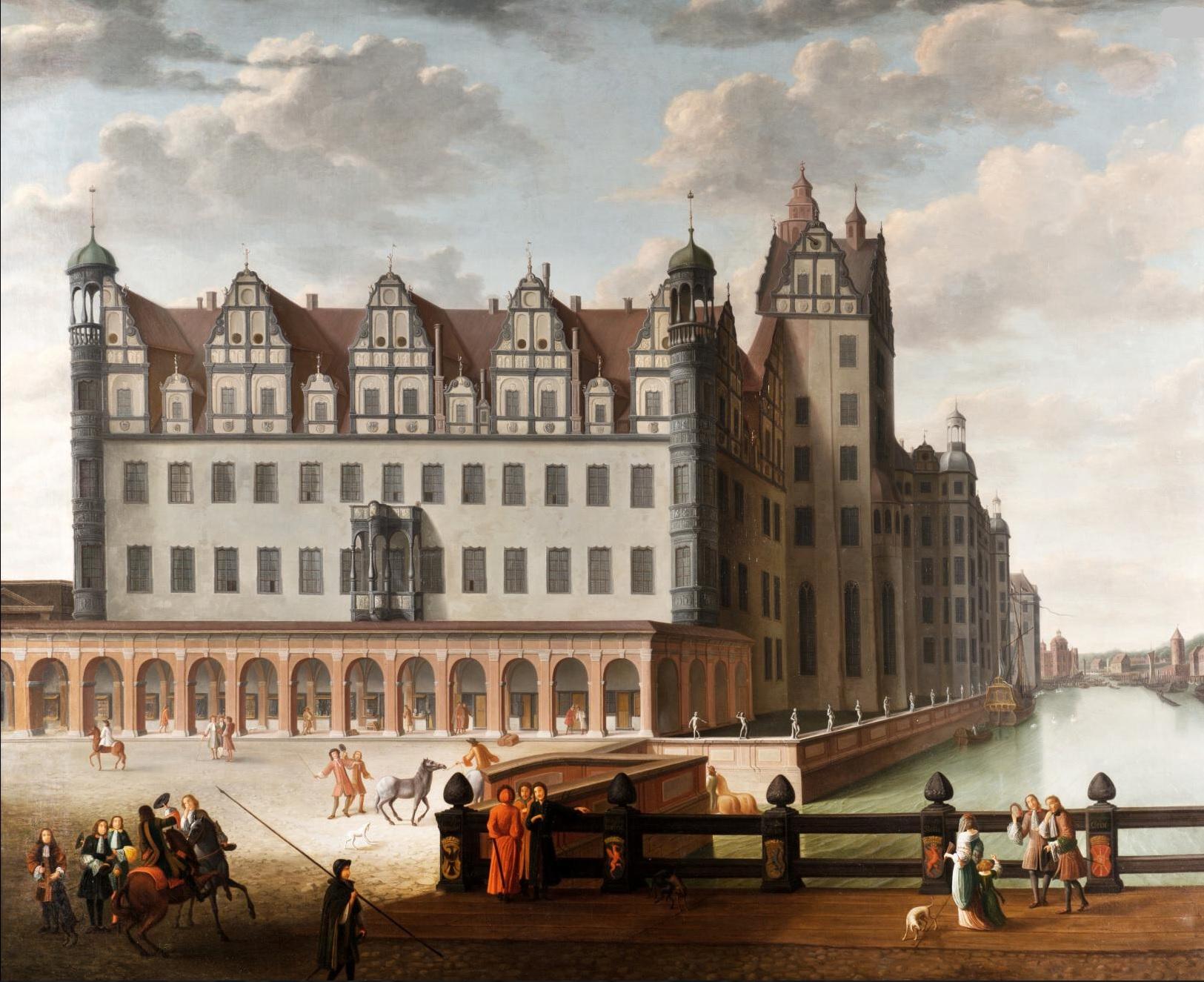 Berliner Schloss um 1690 - Ölbild von Abraham Begeyn