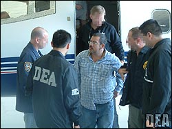 Colombian drug lord Diego Murillo Bejarano was extradited from Colombia to the U.S. in May 2008