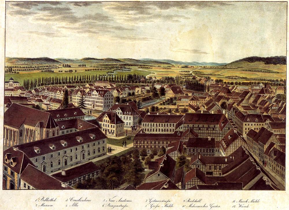 Besemann - Blick auf Goettingen aus der Vogelschau nach Nordwesten
