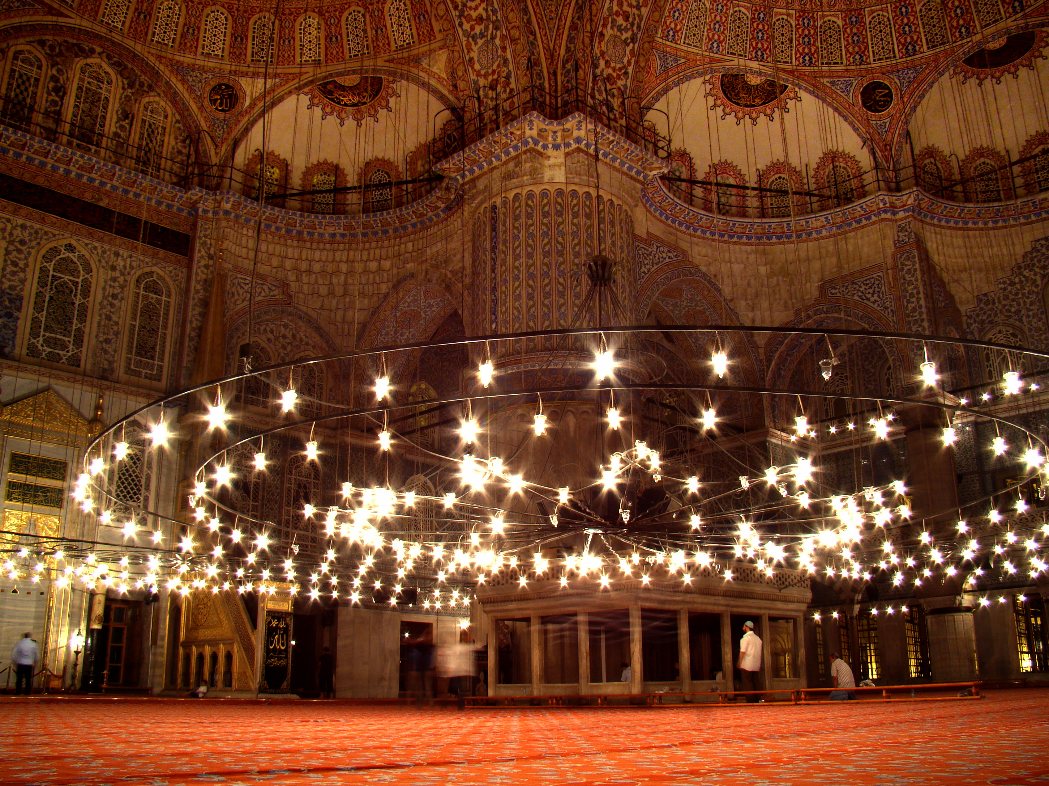 File blue mosque interior 2009 jpg wikimedia commons for Blue istanbul hotel taksim