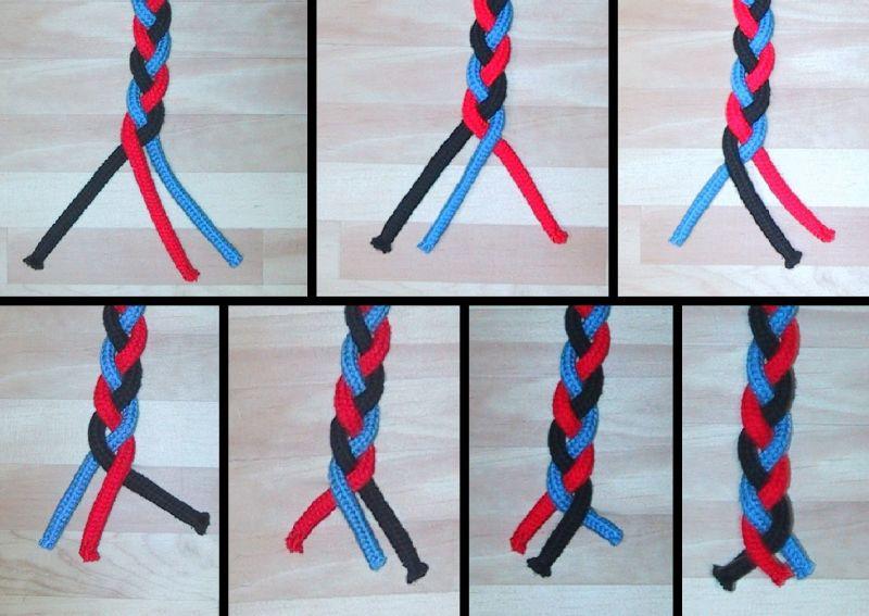 Как плести косу верёвку