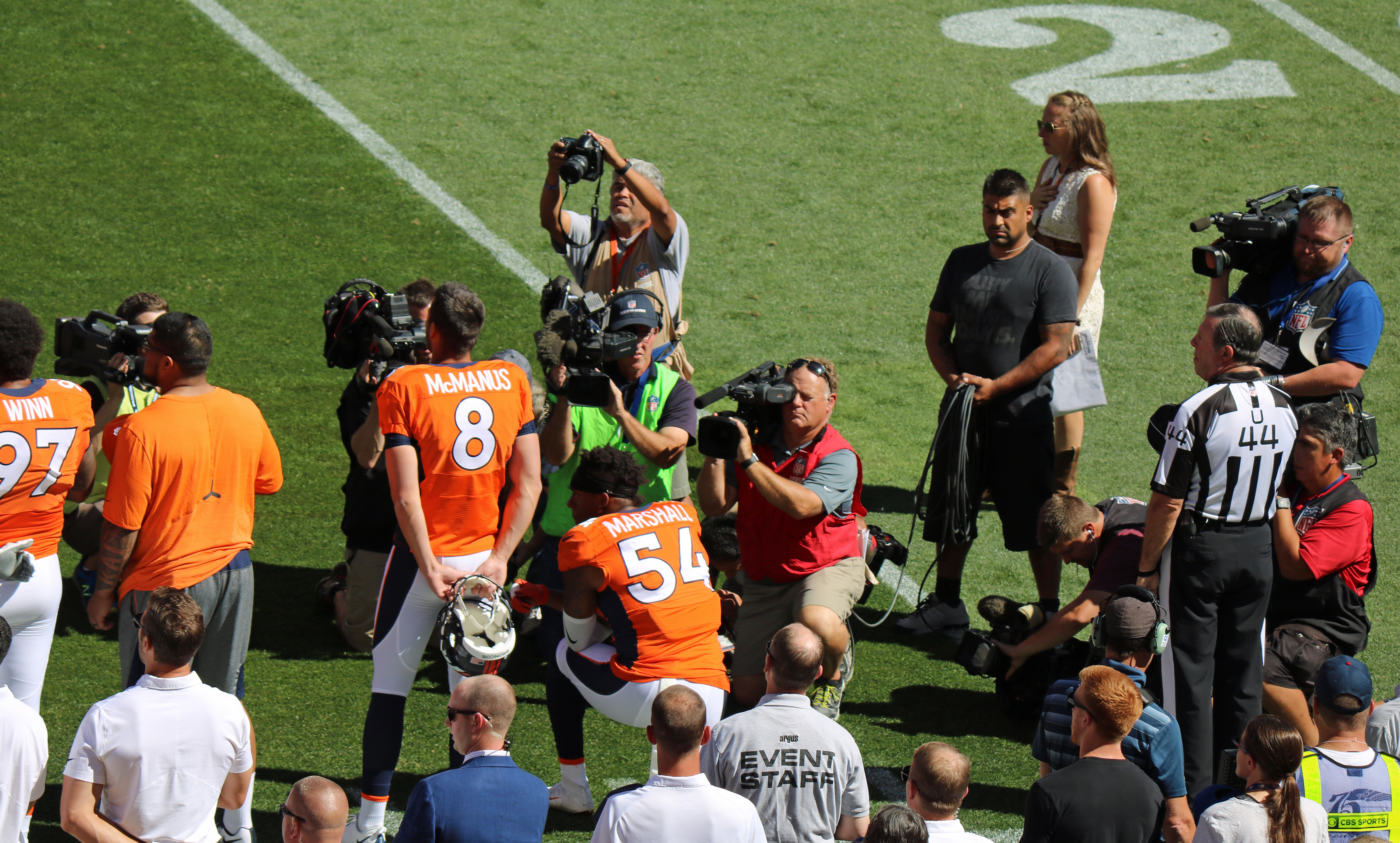 new concept 2bb78 ce3bc File:Brandon Marshall kneeling.JPG - Wikimedia Commons