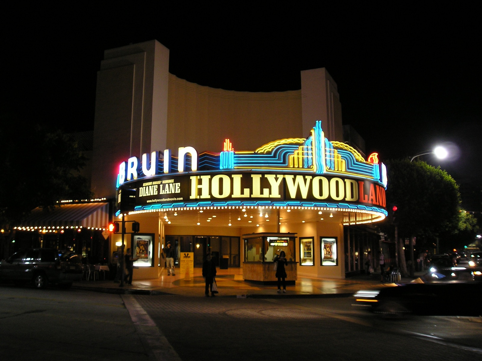 filebruin theatre westwood los angeles ca at night