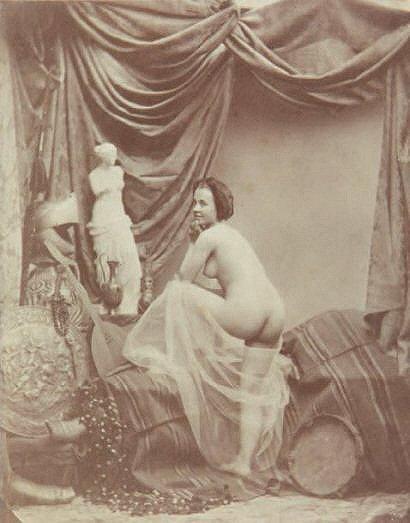 Étude de nu à la Vénus de Milo, Mademoiselle Hamély (c. 1852)