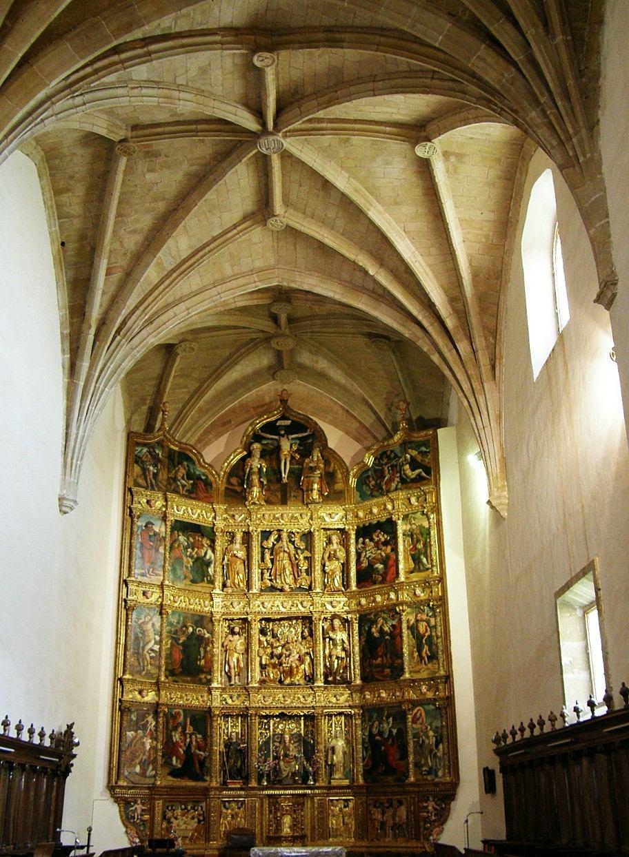 Resultado de imagen de monasterio de Cañas retablo