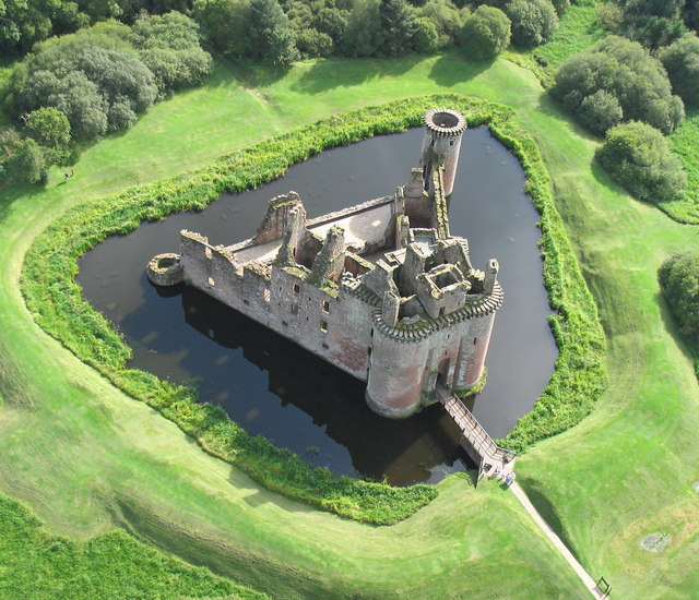 Caerlaverock Castle from the air 1