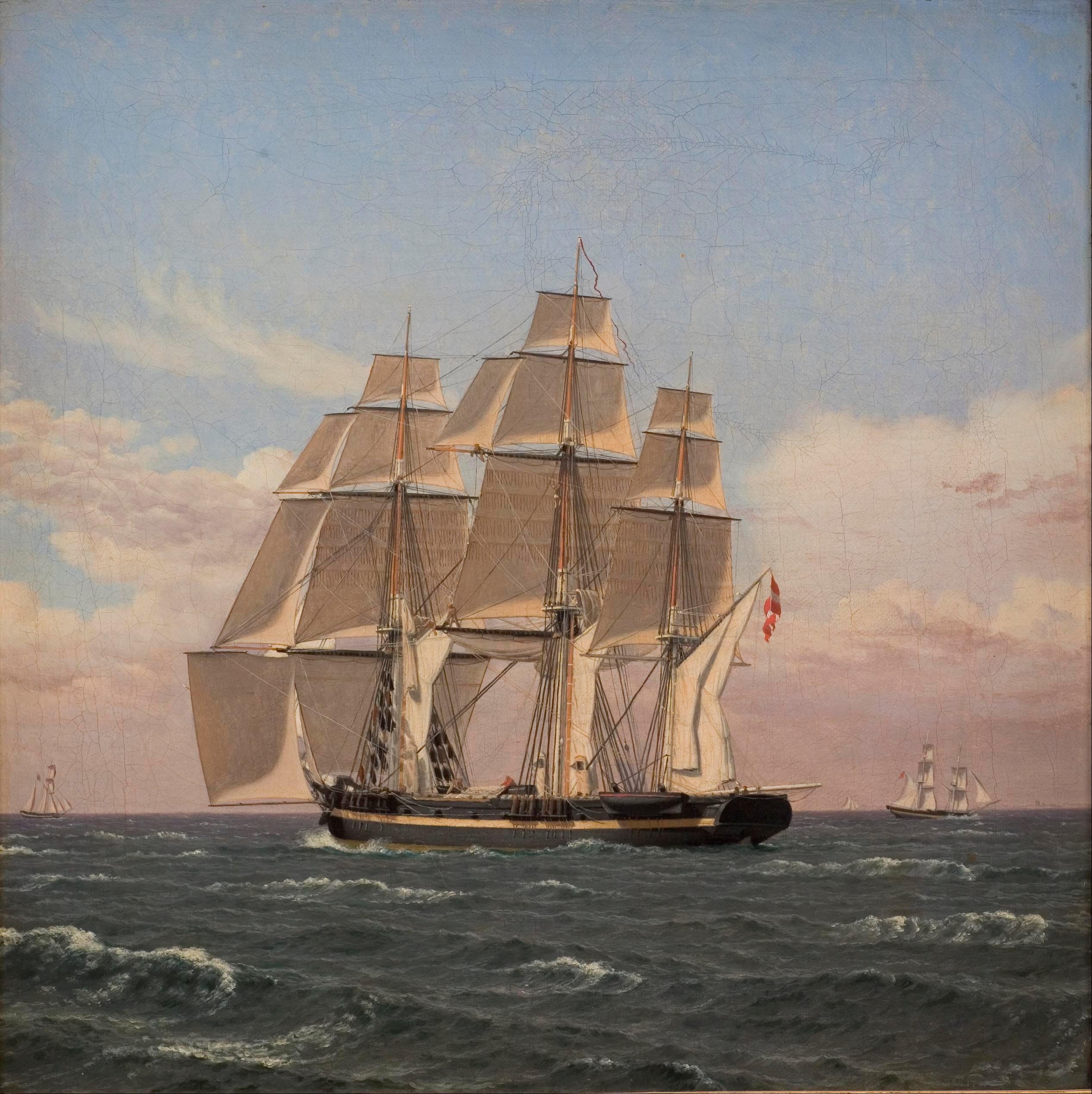 File:Christoffer Wilhelm Eckersberg - The corvette Najaden ...