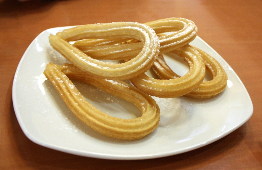 bisque xoco churros with mexican hot chocolate homemade churros with ...