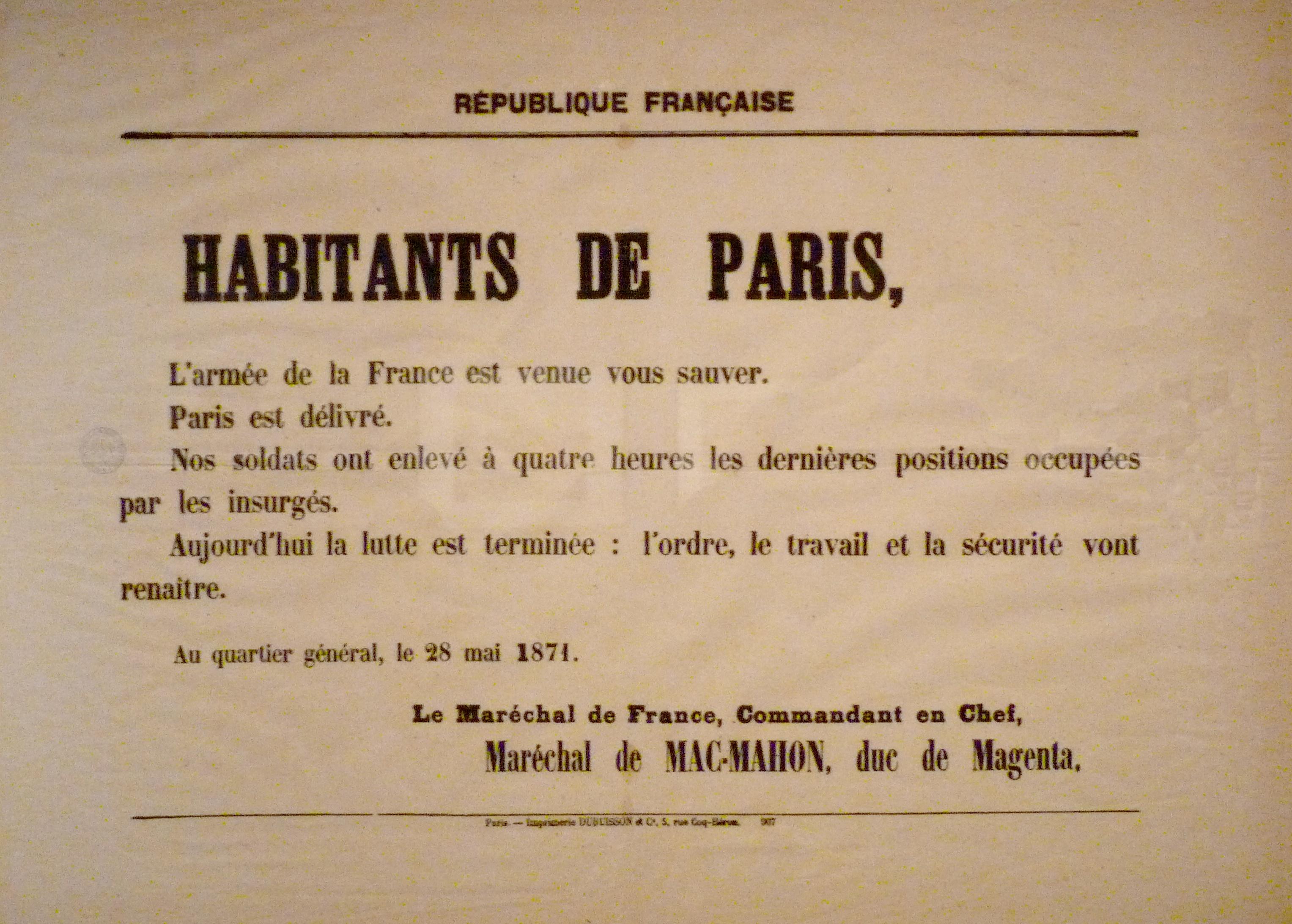 file commune de paris proclamation de mac wikimedia commons. Black Bedroom Furniture Sets. Home Design Ideas