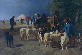 Un Marché aux montons en Normandie (Mercado de carneros en Normandía)