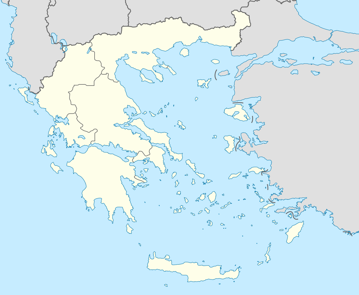 Greece Map Blank.File Decentralized Administrations Of Greece Blank Map Png