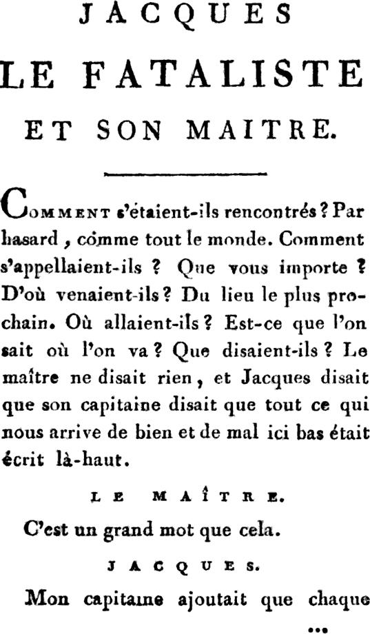 Жак-фаталист и его хозяин  страница 1