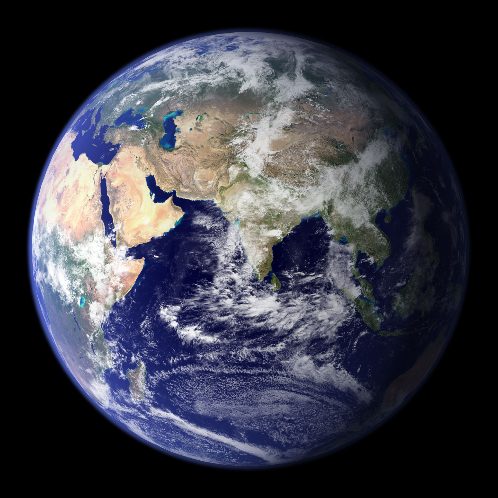 NASA Blue Marble, Eastern Hemisphere, October 2011