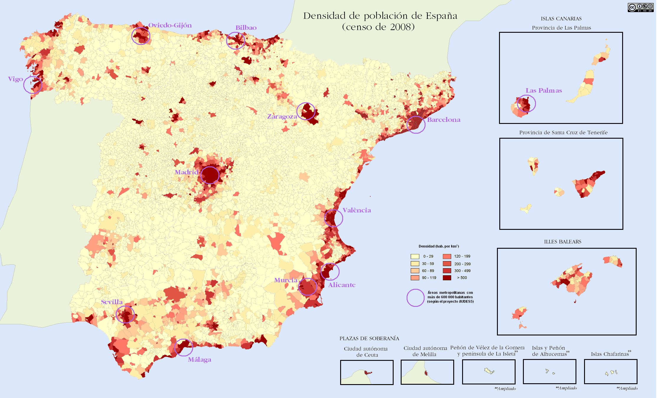 Bilbao On Map Of Spain.Demographics Of Spain Wikipedia