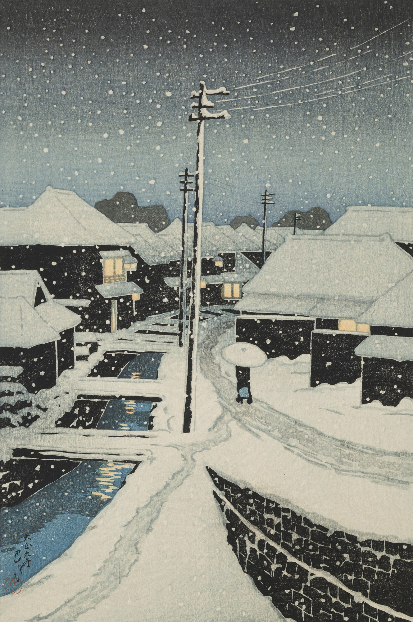 File:Evening Snow at Terashima Village.jpg - Wikimedia Commons