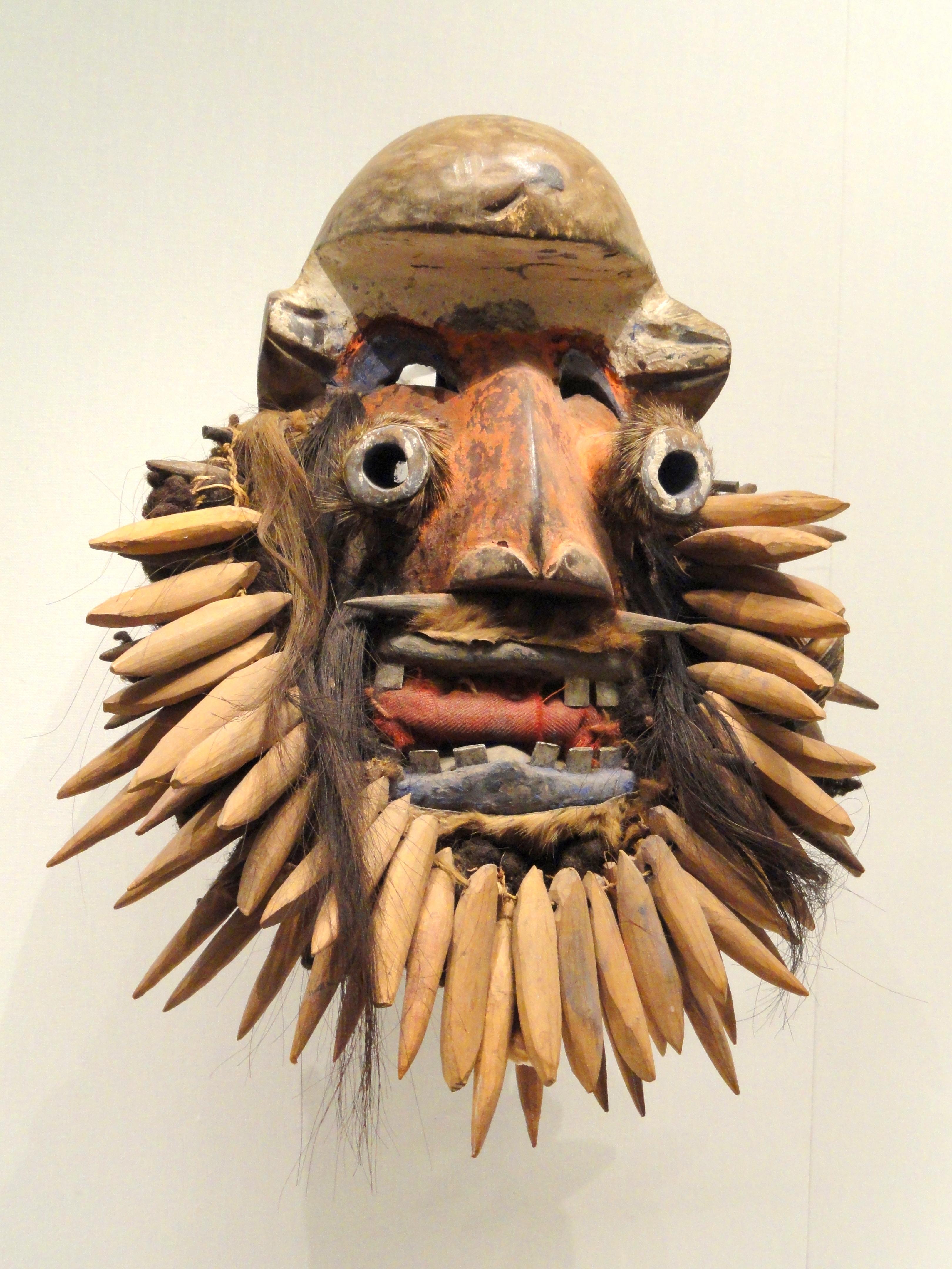 fileface mask early 1900s guinea coast ivory coast or