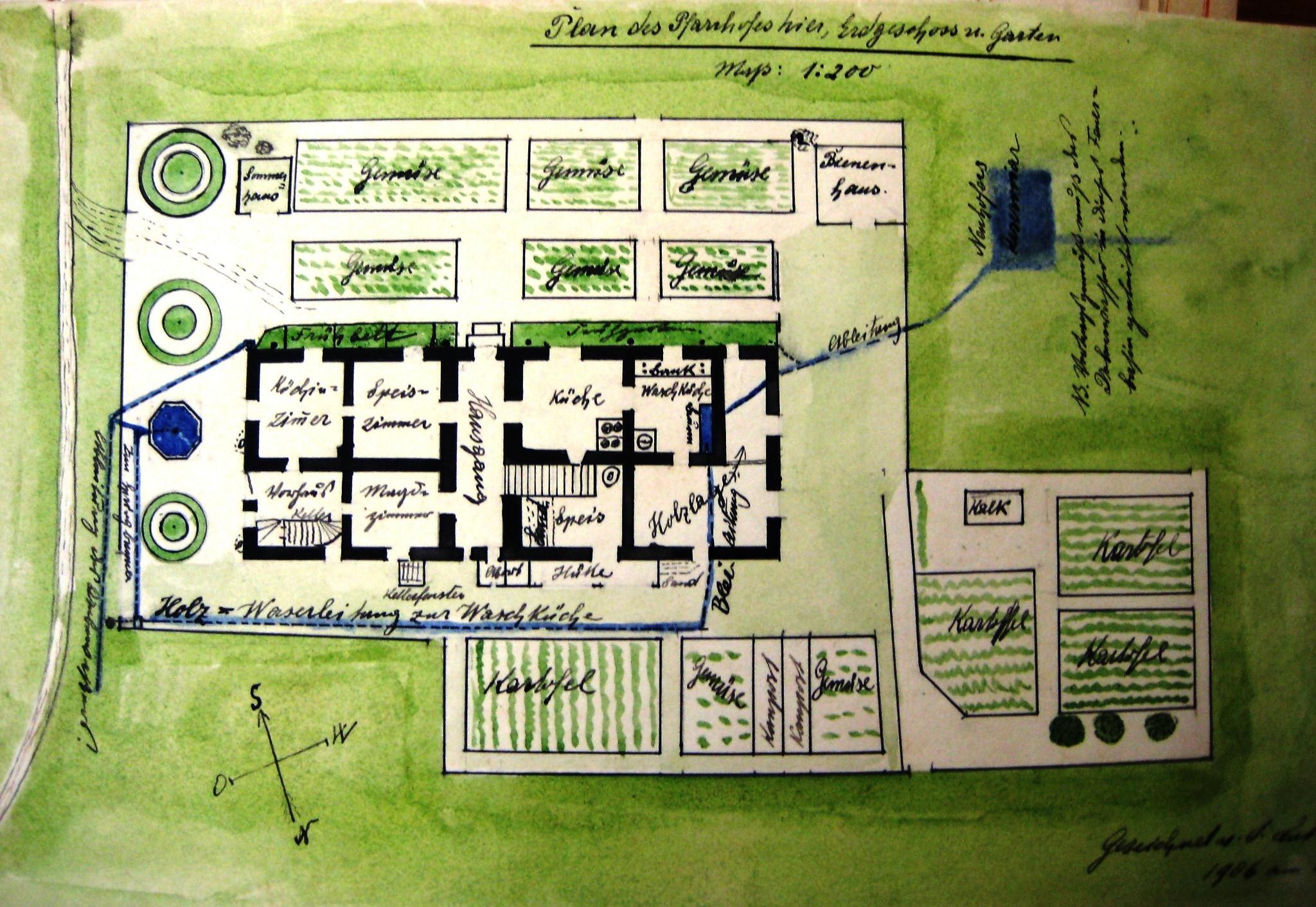 Gartenplan  File:Faistenau Gartenplan Pfarrhof 1906.jpg - Wikimedia Commons