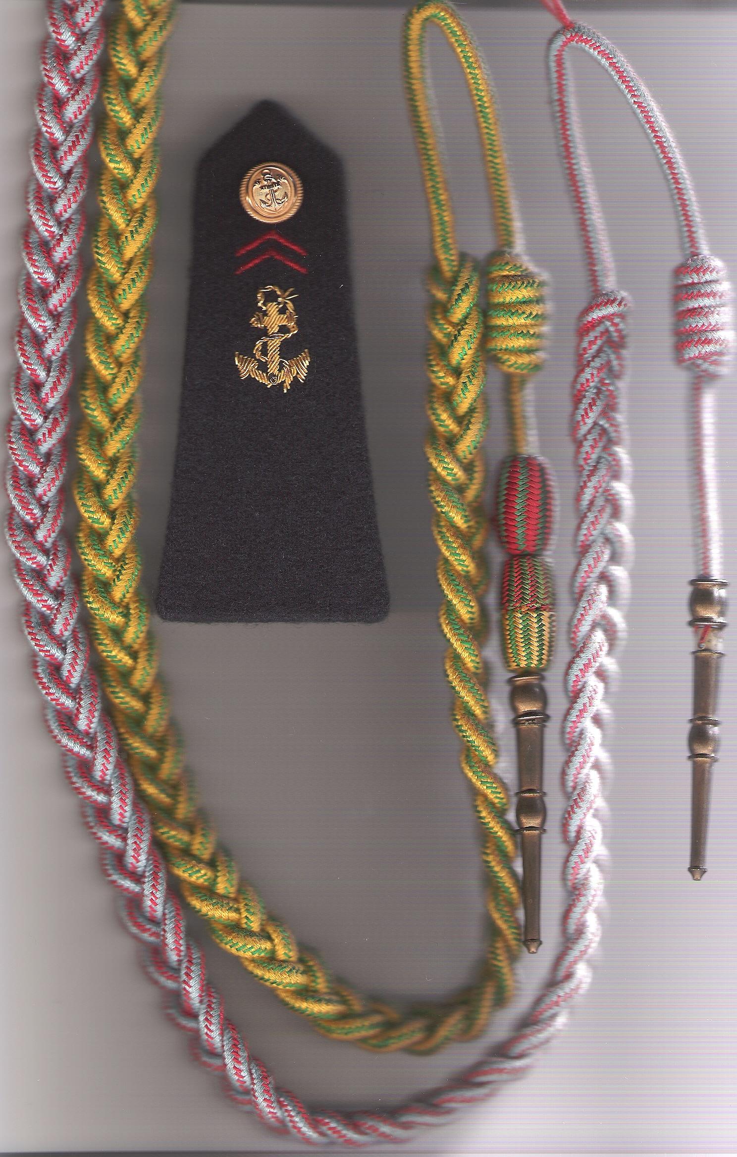 Description fourragère médaille militaire+t.o.e 21 rima