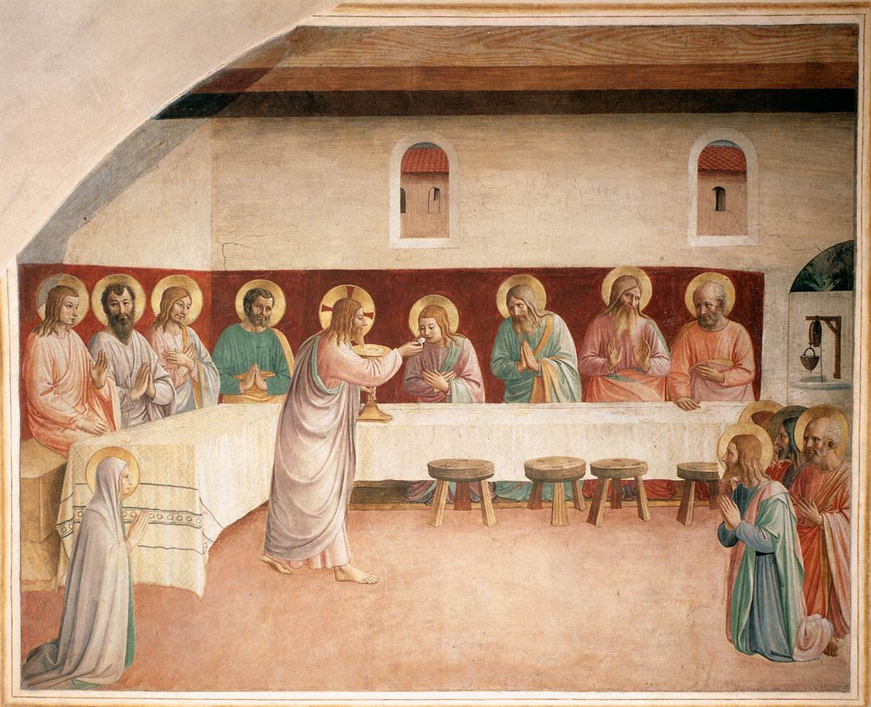Fra Angelico - Institution of the Eucharist (Cell 35) - WGA00549.jpg