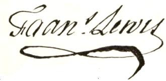 Francis Lewis Signature