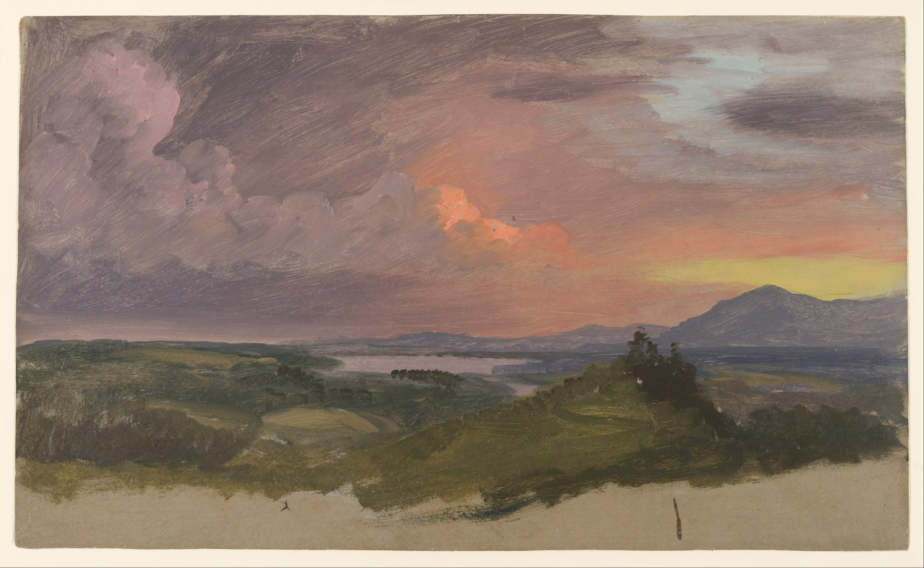 File frederic edwin church sunset in the hudson valley for Frederick church paintings
