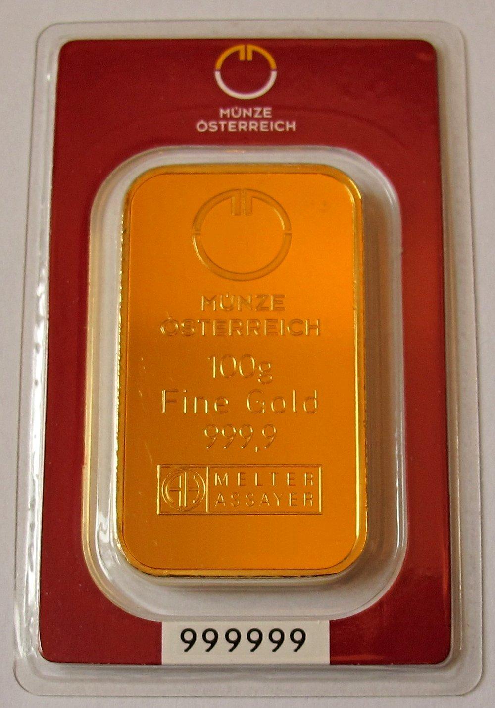 Filegold Ingot 100g Barren österreichjpg Wikipedia
