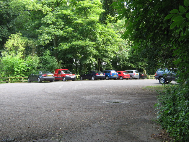Hall car park, Worden Park - geograph.org.uk - 1385130