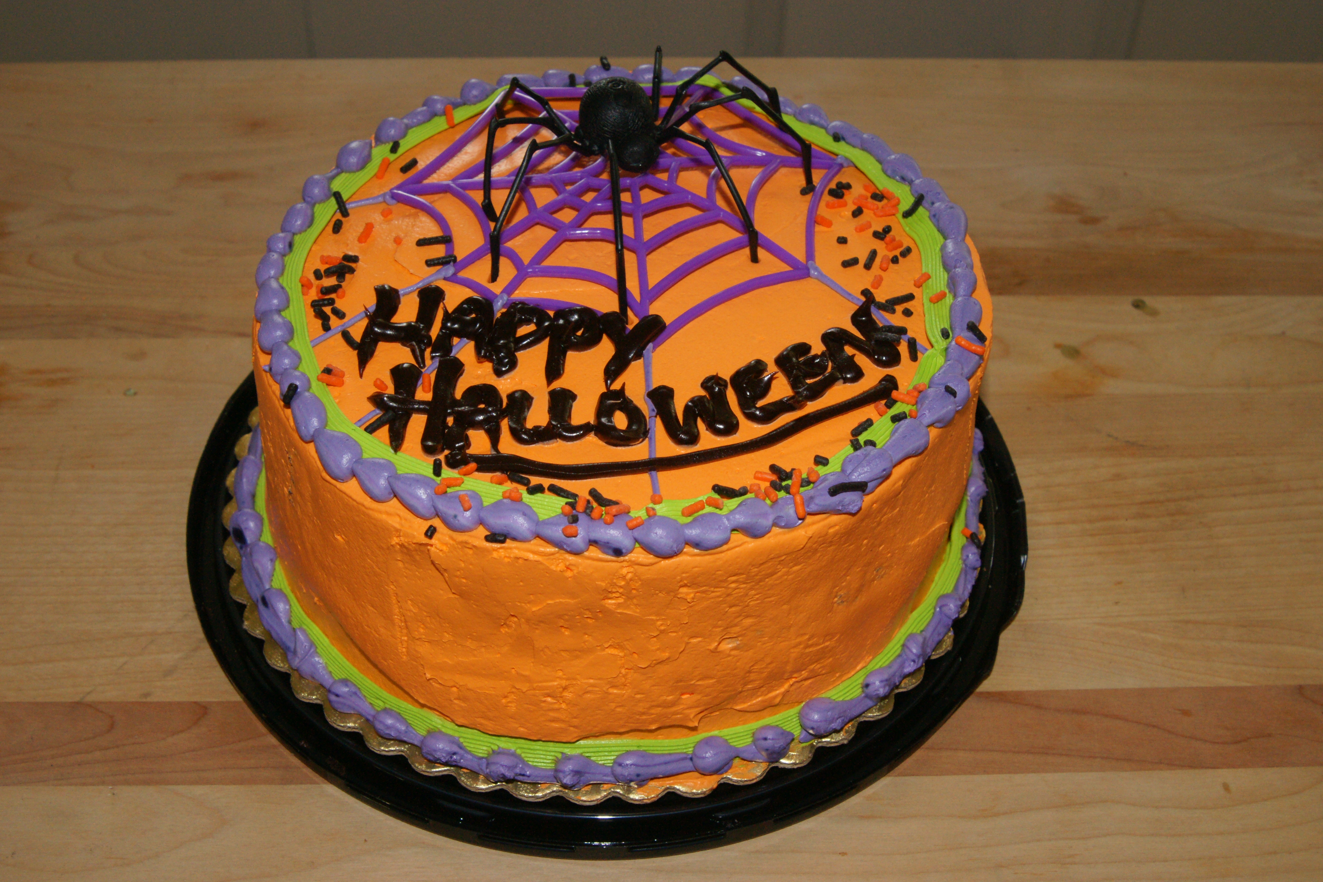 Spider Web Cake Template