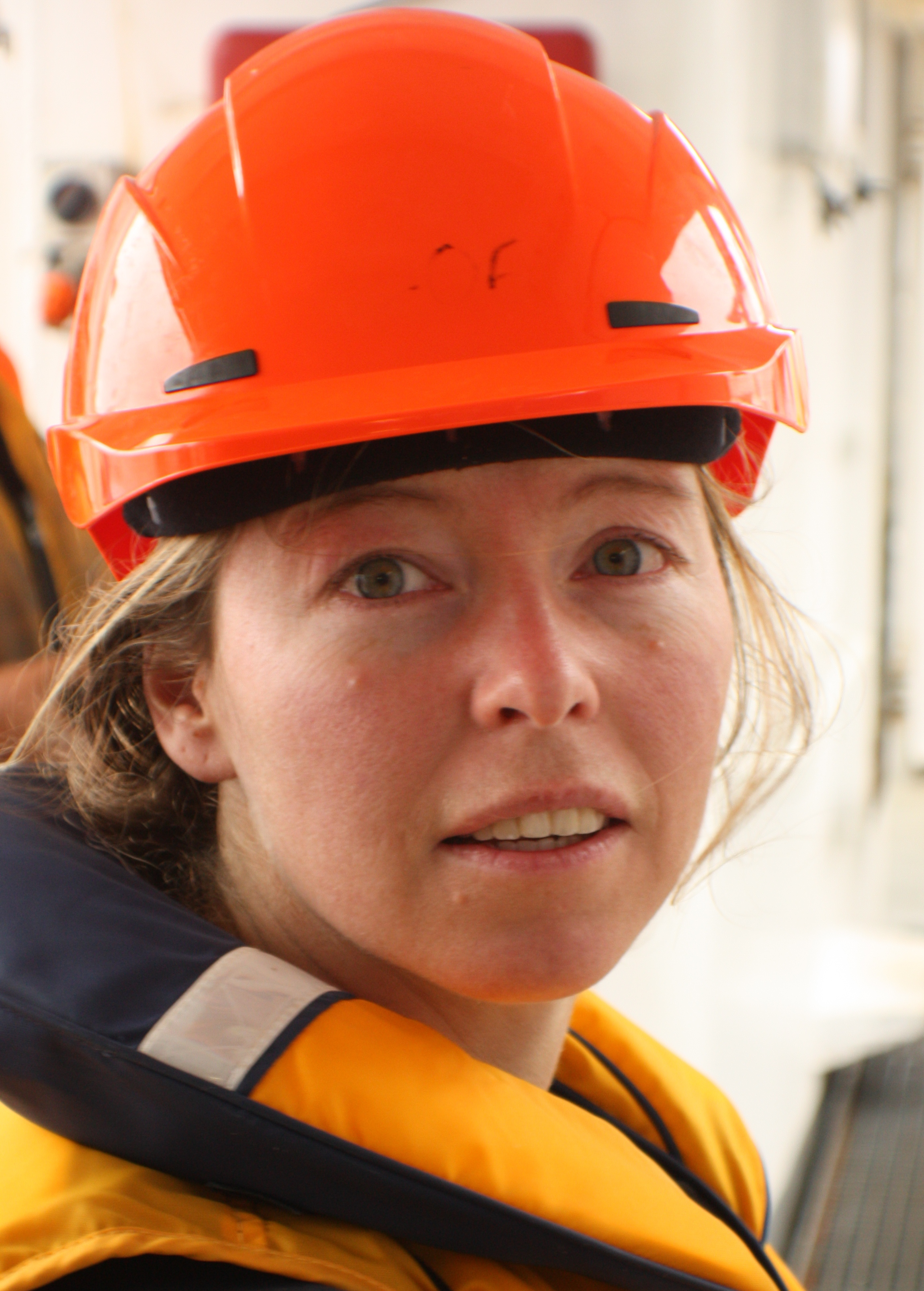 Helen Bostock aboard RV Tangaroa