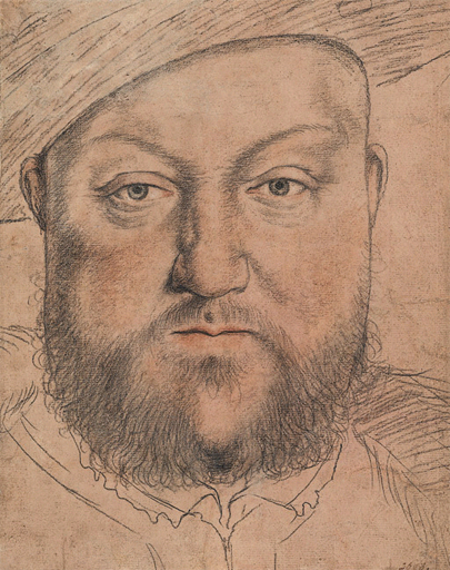 File:Henry VIII, drawing, workshop of Hans Holbein the Younger.jpg