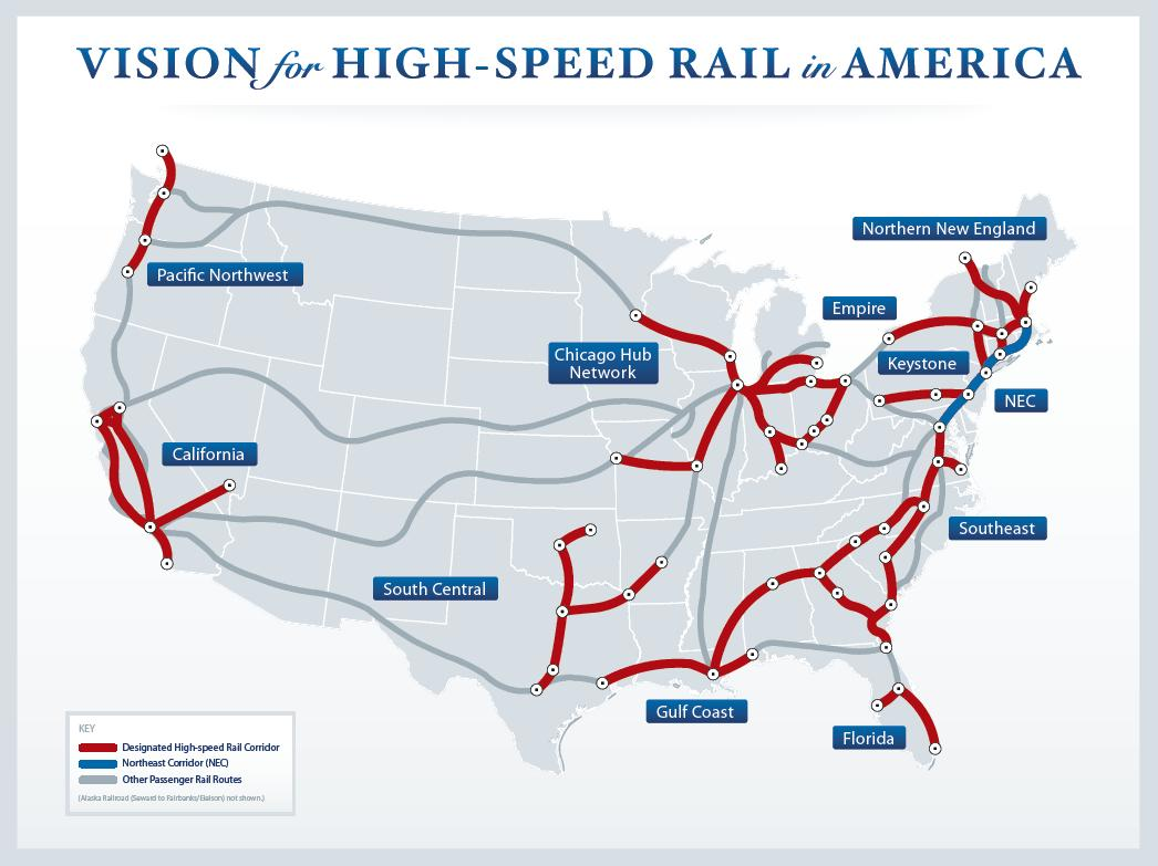 the major reasons for the construction of high speed trains in america Here's the real story first of all, while congress has appropriated $105 billion (not $11 billion) for high-speed rail, only $24 billion (definitely not $11 billion) of it has been spent to.