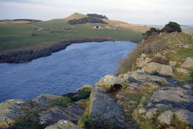 File:Highshield Crags and Crag Lough - geograph.org.uk - 409085.jpg