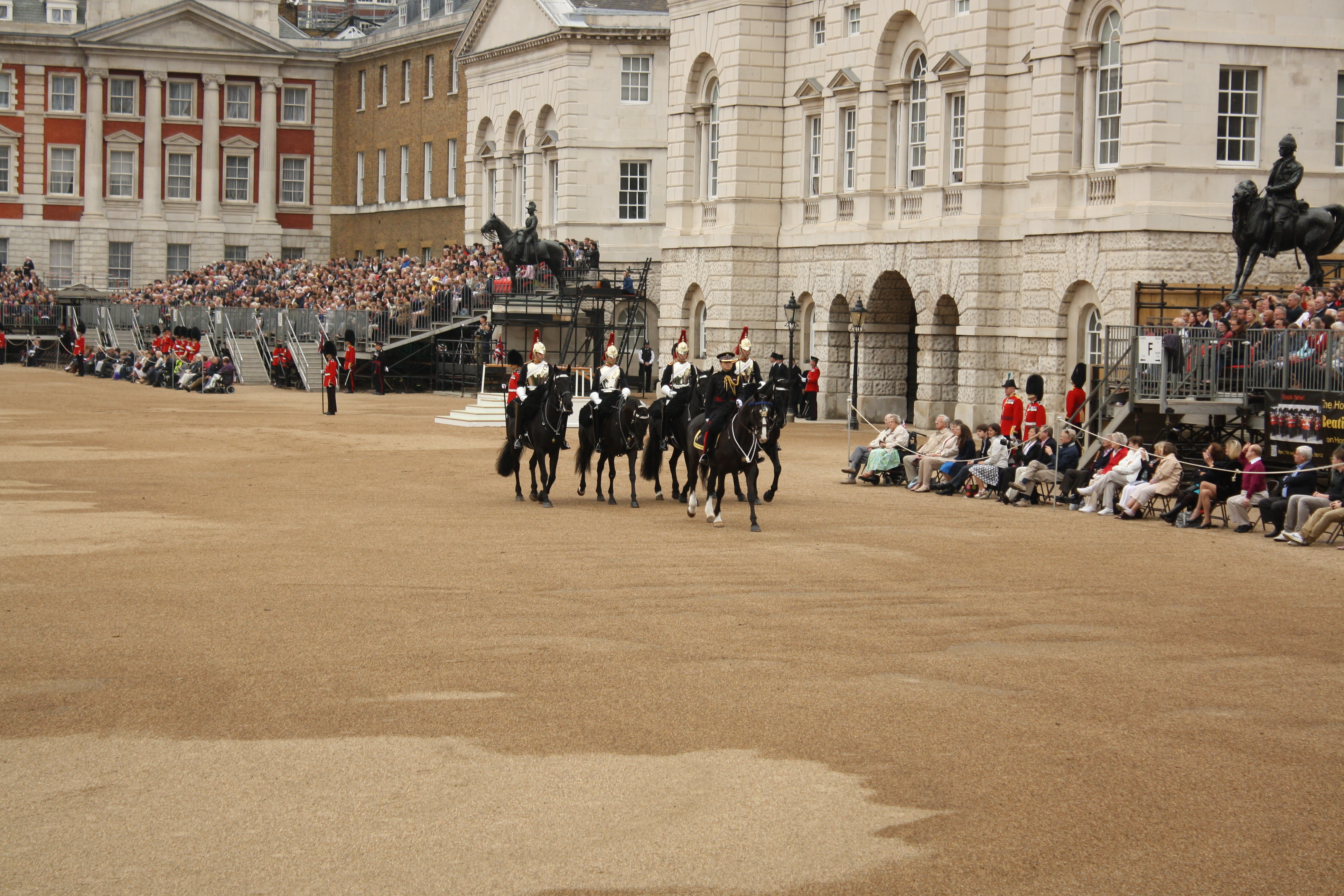 Horse Guards at the rehearsal of the Queen's Birthday Parade