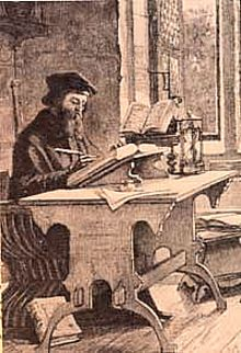 John Wycliffe at work in his study John Wycliffe at work.jpg