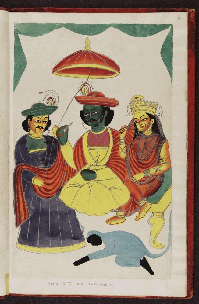 Kalighat pictures Indian gods f.16.jpg