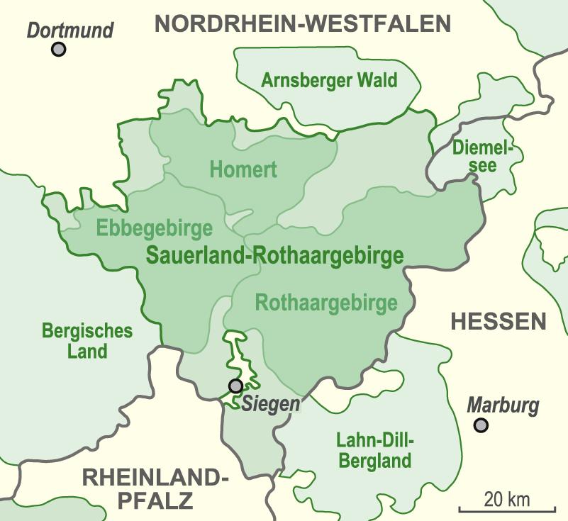 Sauerland Karte Deutschland.Datei Karte Naturpark Sauerland Rothaargebirge Vorläufer Png Wikipedia