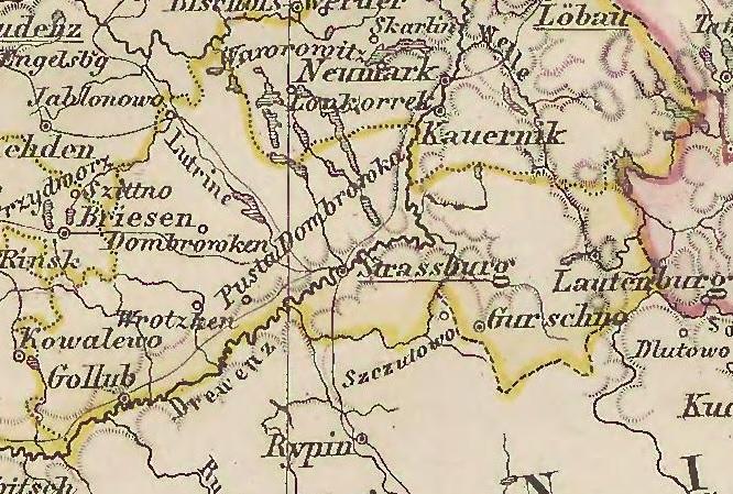 Bildergebnis für graudenz strasburg landkarte