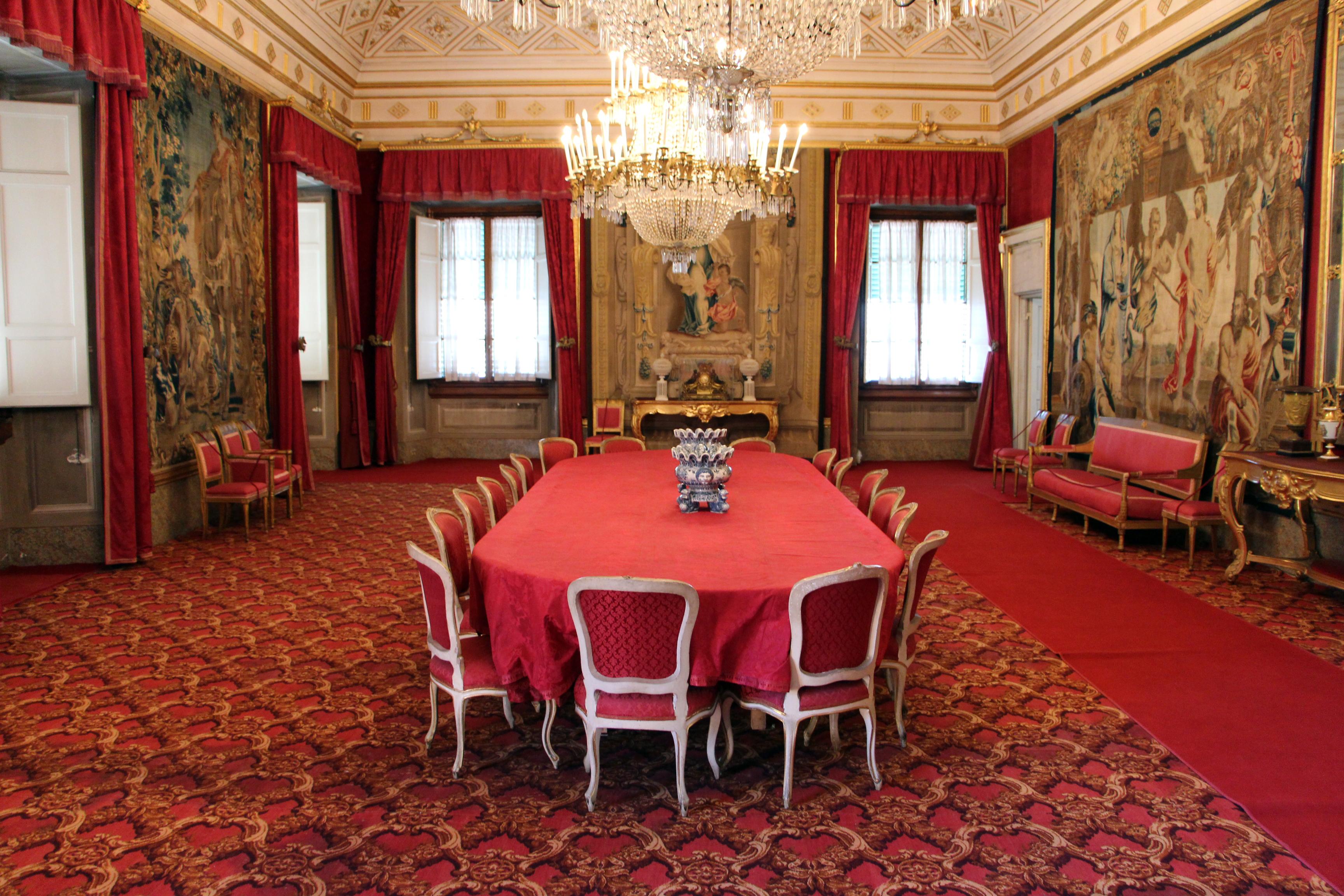 File:La Petraia Sala Da Pranzo O Sala Rossa View 01.JPG Wikimedia  #7E2B20 3456 2304 Sala Da Pranzo Nell'antica Roma