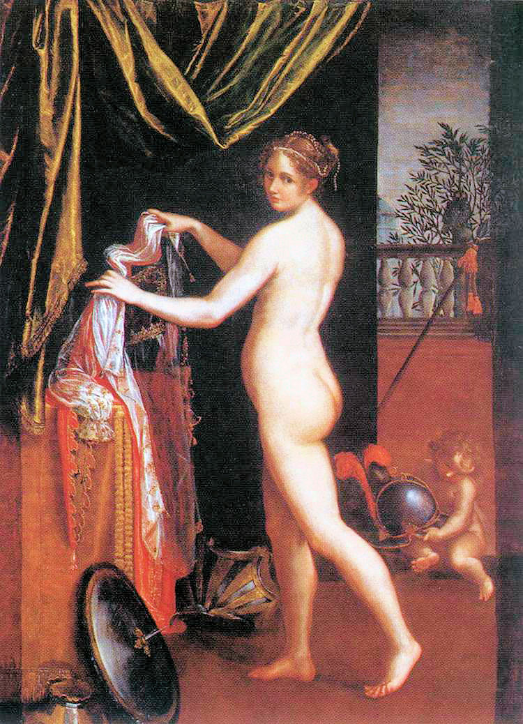 Lavinia Fontana, Minerva at Her Toilet, or Minerva Dressing (1613)