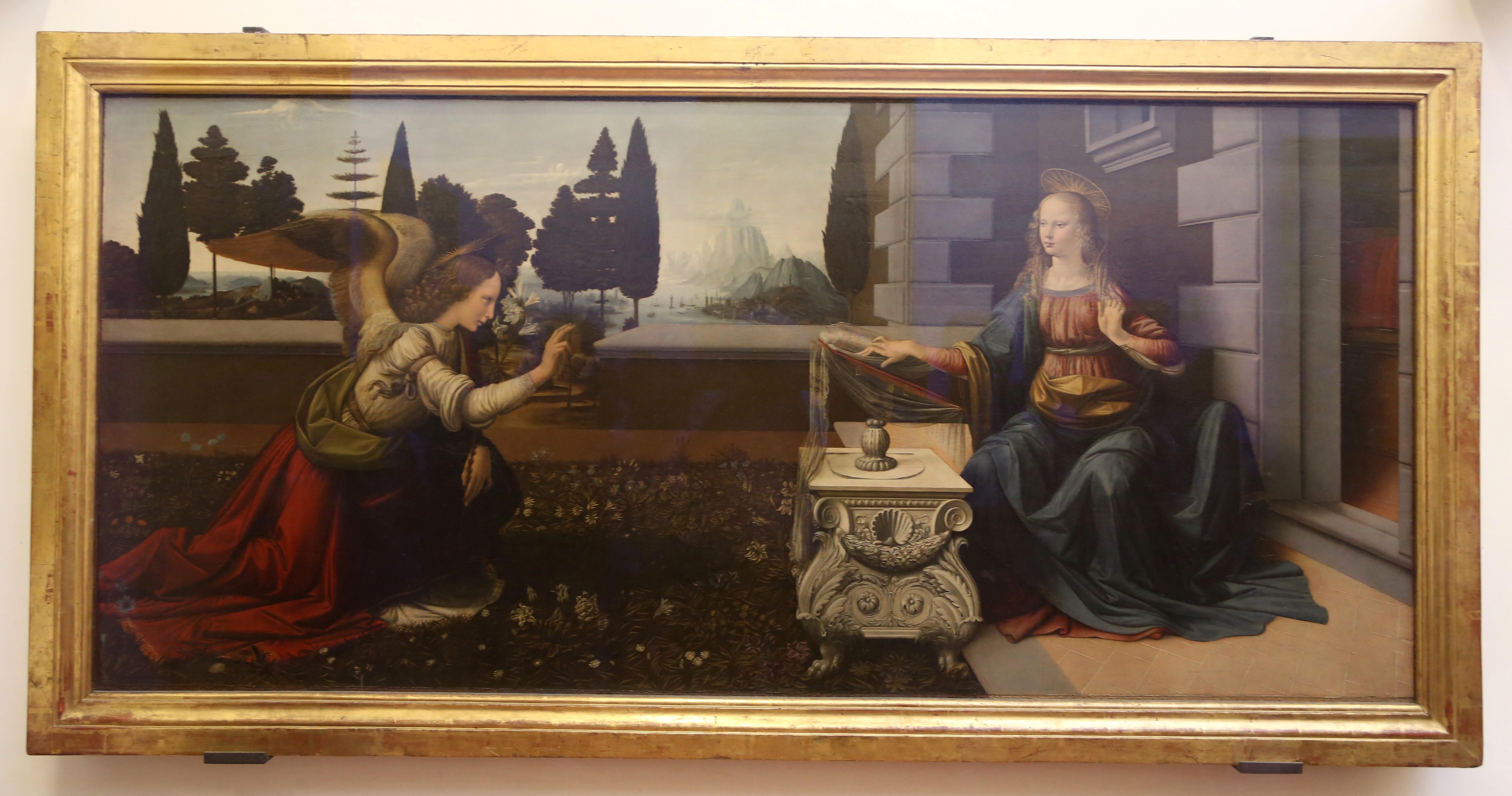 File:Leonardo da Vinci Annunciazione 1472 Uffizien Florenz-01.jpg