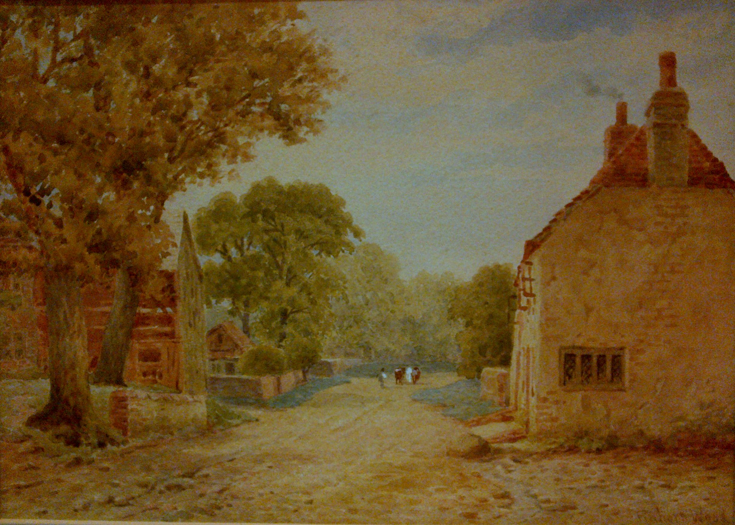 File:Levington village, Sussex (undated) by Lewis Pinhorn Wood.jpg ...
